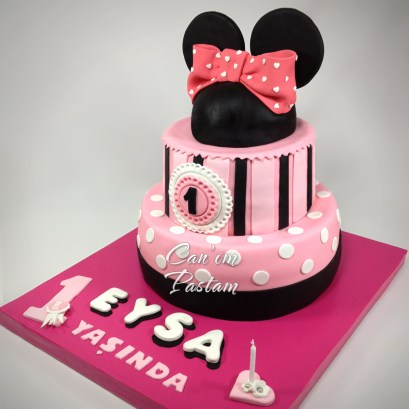 Minnie Mouse Cake Mini pasta 1 yaş pastası